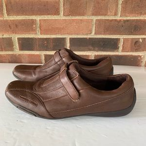 Naturalizer brown leather Carlo flat shoes